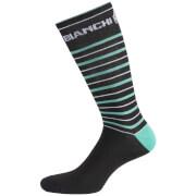 Bianchi Penice Socks - Black/Celeste Stripe