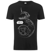 Star Wars Men's The Last Jedi BB-8 Stencil T-Shirt - Black