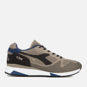 Diadora Men's V7000 Weave Trainers - Black Bean/Cobblestone