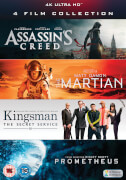 4K Ultra HD - 4 Film Collection (Assassin's Creed, Kingsman, Prometheus, The Martian)