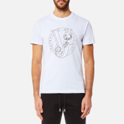 Versace Jeans Men's Circle Logo T-Shirt - Bianco Ottico