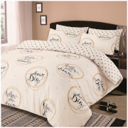 Dreamscene Follow Your Dreams Duvet Set - Natural