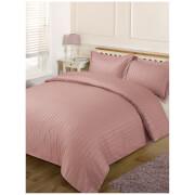 Brentfords Satin Stripe Duvet Set - Vintage Pink