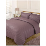 Brentfords Satin Stripe Duvet Set - Mauve