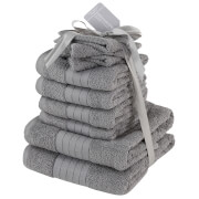 Highams 100% Cotton 10 Piece Towel Bale (500GSM) - Grey
