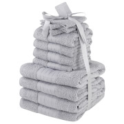 Highams 100% Cotton 12 Piece Towel Bale (500GSM) - Silver