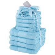 Highams 100% Cotton 12 Piece Towel Bale (500GSM) - Aqua
