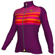 Alé Women's Stripe Winter Jersey - Purple