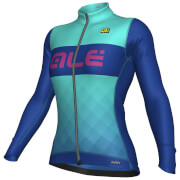Alé R-EV1 Rumbles Winter Jersey - Turquoise/Light Blue