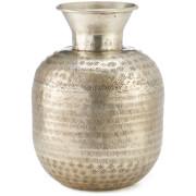 Nkuku Madhuri Aluminium Vase - Antique Aluminium