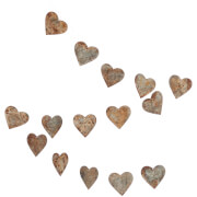 Nkuku Abari Garland Wire Heart - Aged Zinc
