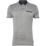 Brave Soul Men's Aqua Polo Shirt - Light Grey Marl