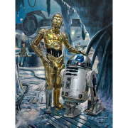 Star Wars: The Empire Strikes Back - Waiting at the South Entrance Print by Acme Archive's Artist Bryan Snuffer - 13 x 19 Inches