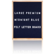 Large Premium Felt Letter Board - Midnight Blue