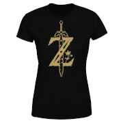 Nintendo The Legend Of Zelda Master Sword Women's Black T-Shirt