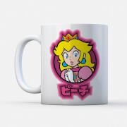 Nintendo Super Mario Peach Kanji Mug