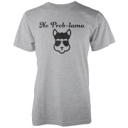 T-Shirt Homme/Femme No Prob-Lama - Gris