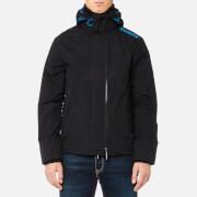 Superdry Men's Tech Hood Pop Zip Windcheater Jacket - Black/Super Denby
