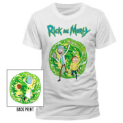 Rick and Morty Portal Heren T-Shirt - Wit