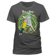 Rick and Morty Spiral Heren T-Shirt - Grijs