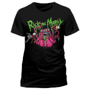 Rick and Morty Monster Slime Heren T-Shirt - Zwart