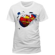 DC Comics Superman Torn Männer T-Shirt - Weiß