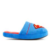 DC Comics Men's Superman Slippers - Blue