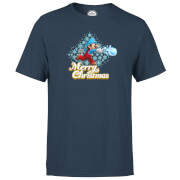 Nintendo® Super Mario Snowball Christmas T-Shirt - Navy