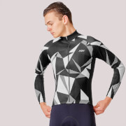 PBK Poligo Winter Roubaix Jersey - Black/White