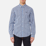 BOSS Green Men's C-Buster Multi Checked Shirt - Blue
