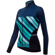 Santini Women's Coral 2 Winter Long Sleeve Jersey - Blue