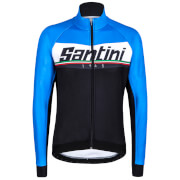 Santini Meridian Warmsant Winter Jacket - Blue/Black