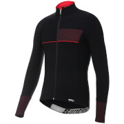Santini Vega 2.0 Aquazero Long Sleeve Jersey - Black/Red