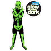 Morphsuit Kids' Glow in the Dark Skeleton - Black