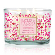 Baylis & Harding Rose Prosecco Fizz 3 Wick Candle