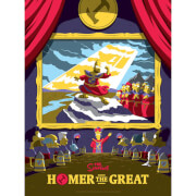 The Simpsons: Homer the Great Variant Silkscreen Print by Florey - Limited to 100 - Zavvi UK Exclusive