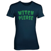 T-Shirt Femme Witch Please - Bleu Marine