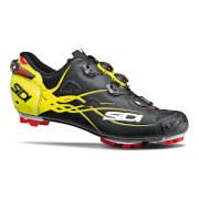 Sidi Tiger Matt Carbon MTB Cycling Shoes - Black/Yellow Fluo