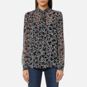 MICHAEL MICHAEL KORS Women's Shooting Star Blouse - Black/White