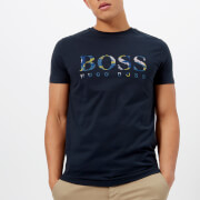 BOSS Orange Men's Tauno 7 Printed T-Shirt - Navy