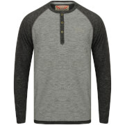 Tokyo Laundry Men's Jephro Long Sleeve Henley Top - Grey