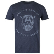 Marvel Men's Avengers First T-Shirt - Heather Navy