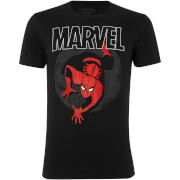 Marvel Men's Spider-Man Spotlight T-Shirt - Black