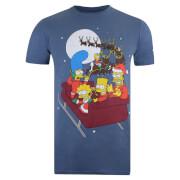 T-Shirt de Noël Homme Les Simpson Luge - Bleu Indigo