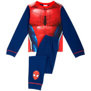 Marvel Boys' Spider-Man Novelty Pyjamas - Blue
