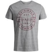Jack & Jones Originals Men's Slack T-Shirt - Light Grey Marl