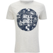 Jack & Jones Men's Originals Newport T-Shirt - Light Grey Marl