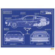 Back to the Future Blueprints Limited Edition Art Print