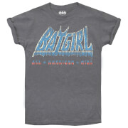 DC Comics Women's Batgirl Americana T-Shirt - Graphite Heather