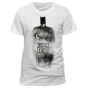 DC Comics Men's Justice League Batman Silhouette T-Shirt - White